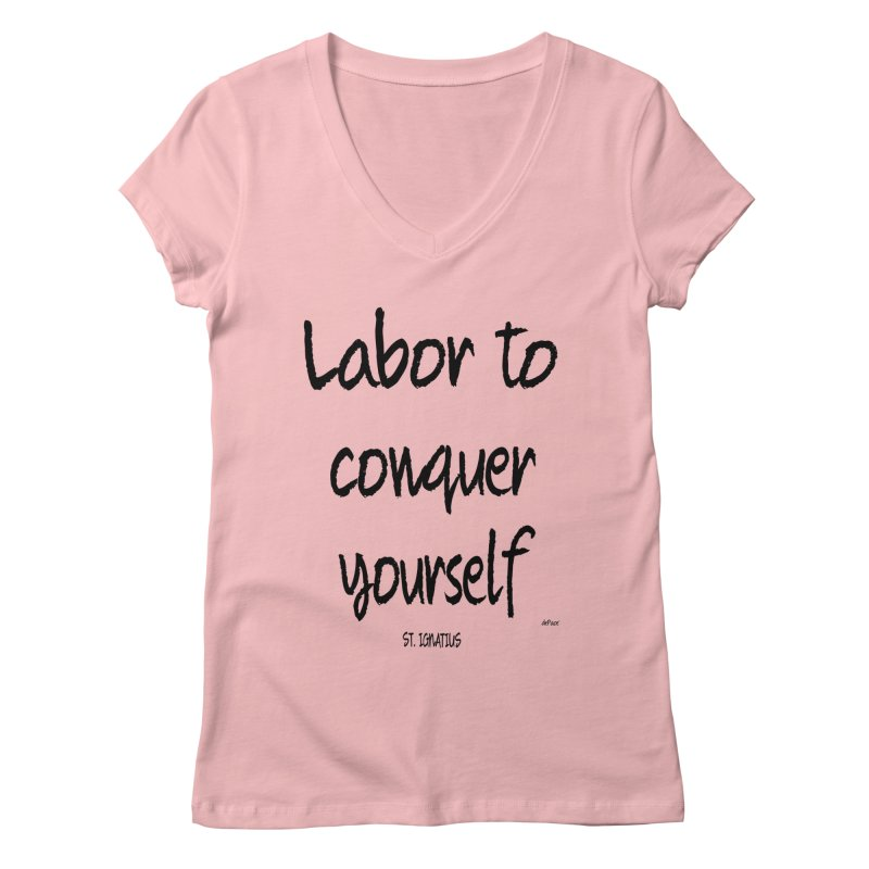 Labor to conquer yourself Women's Regular V-Neck by artworkdealers Artist Shop