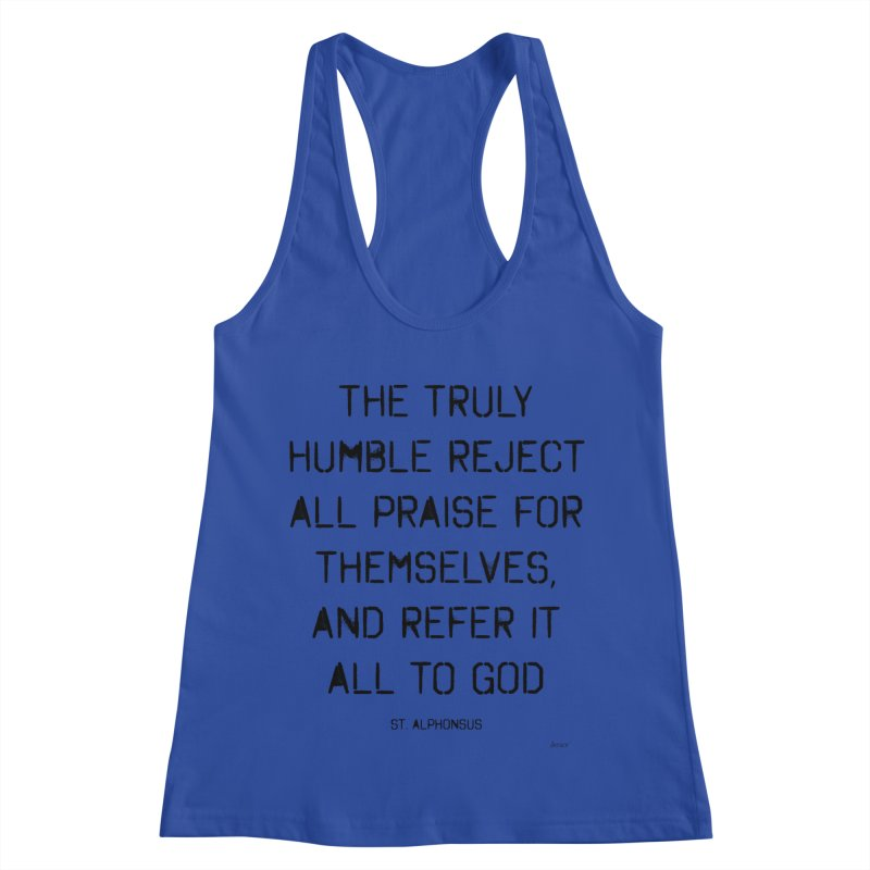 The truly humble Women's Racerback Tank by artworkdealers Artist Shop