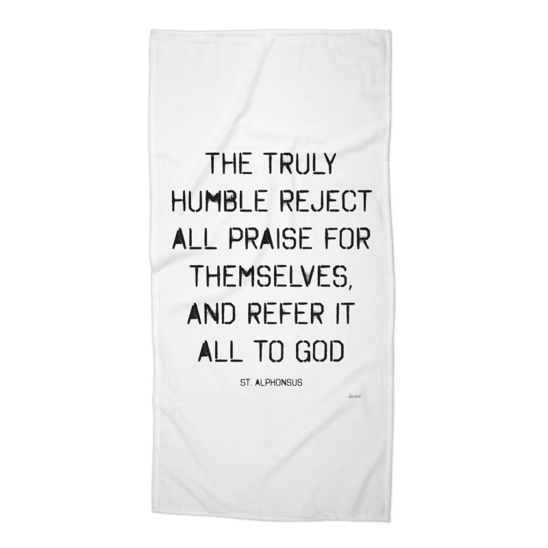 The truly humble Accessories Beach Towel by artworkdealers Artist Shop