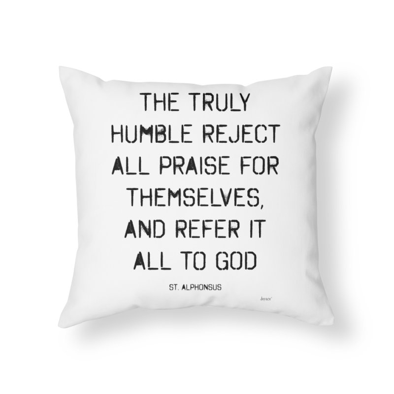The truly humble Home Throw Pillow by artworkdealers Artist Shop