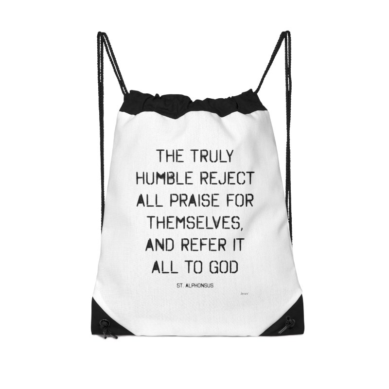 The truly humble Accessories Drawstring Bag Bag by artworkdealers Artist Shop
