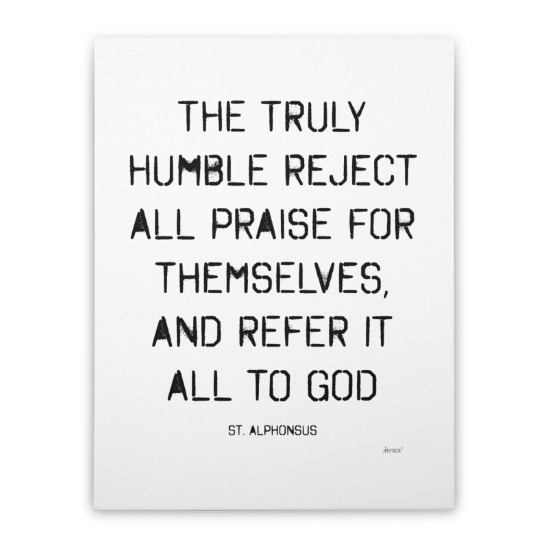 The truly humble Home Stretched Canvas by artworkdealers Artist Shop