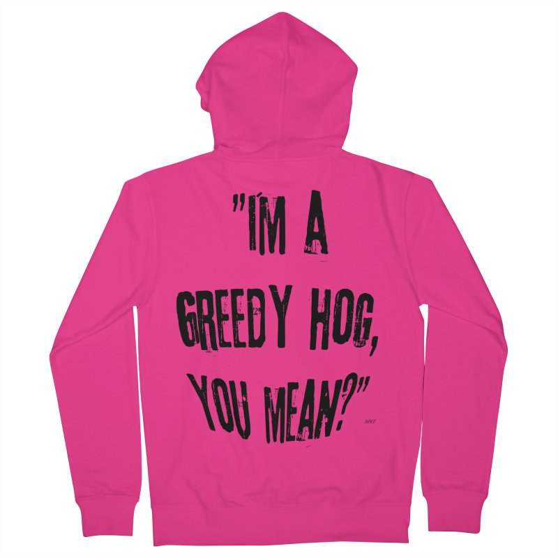 Greedy Hog Men's French Terry Zip-Up Hoody by artworkdealers Artist Shop