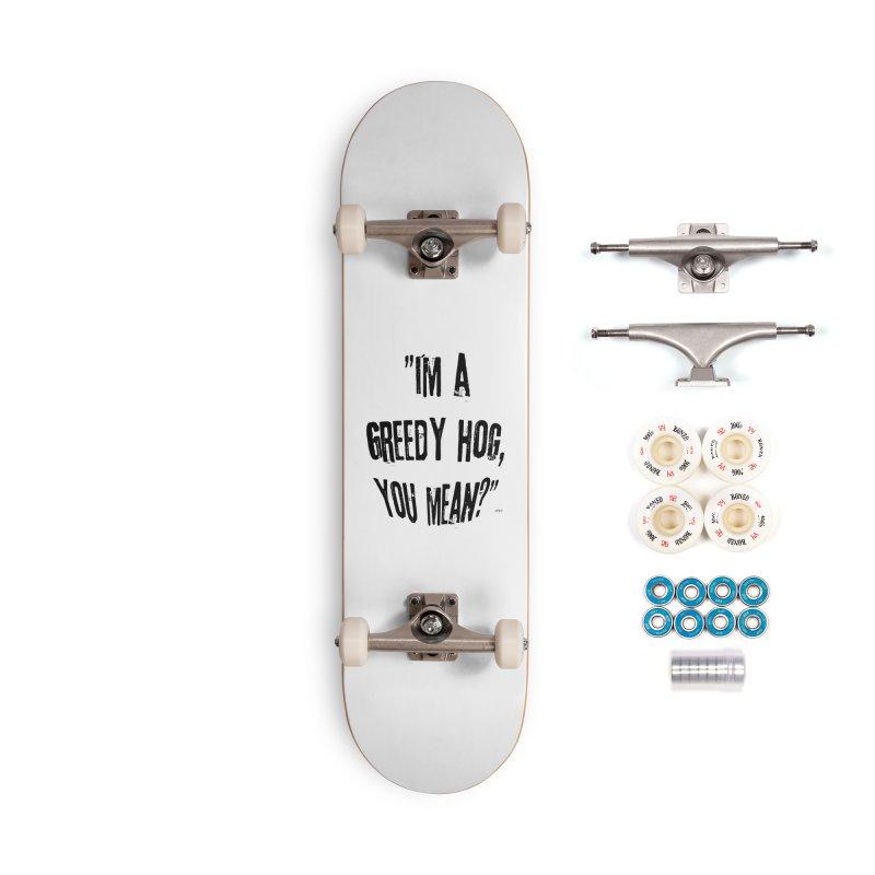 Greedy Hog Accessories Complete - Premium Skateboard by artworkdealers Artist Shop