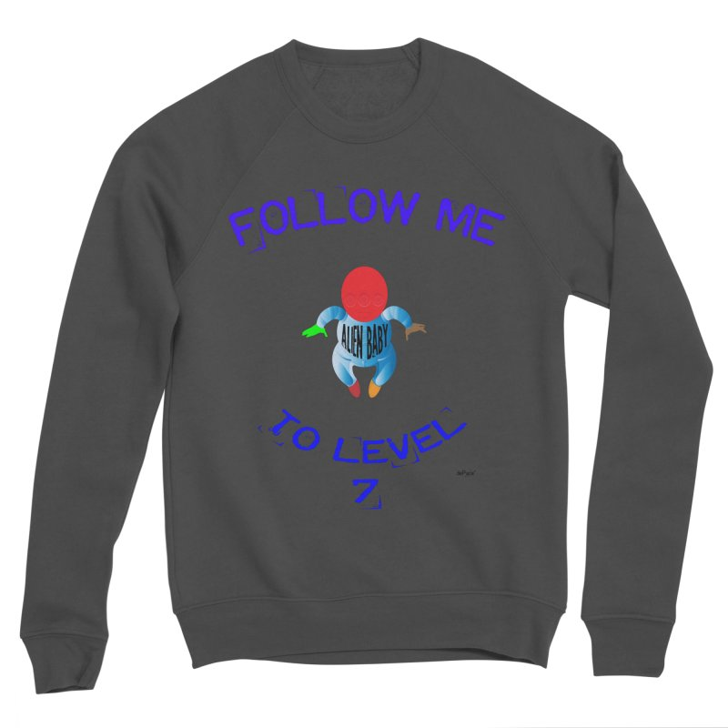 Follow me to level 7 Men's Sponge Fleece Sweatshirt by artworkdealers Artist Shop