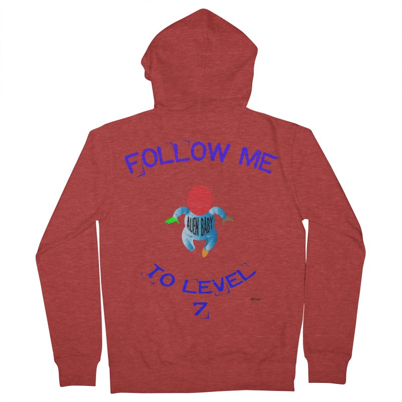Follow me to level 7 Men's French Terry Zip-Up Hoody by artworkdealers Artist Shop