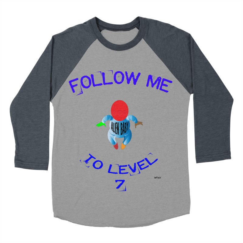 Follow me to level 7 Men's Baseball Triblend Longsleeve T-Shirt by artworkdealers Artist Shop