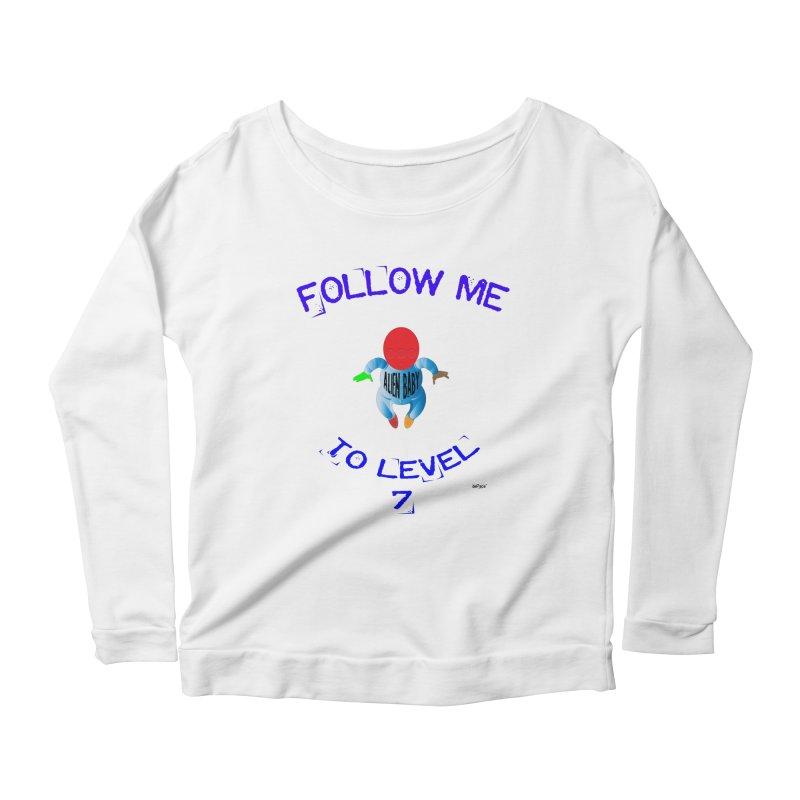 Follow me to level 7 Women's Scoop Neck Longsleeve T-Shirt by artworkdealers Artist Shop