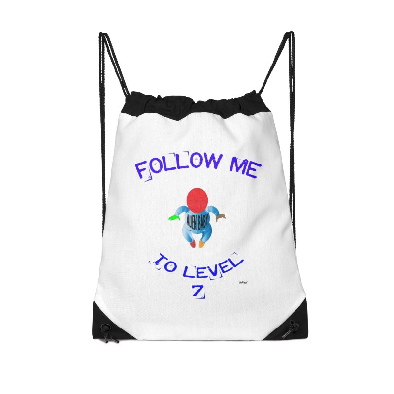 Follow me to level 7 Accessories Drawstring Bag Bag by artworkdealers Artist Shop