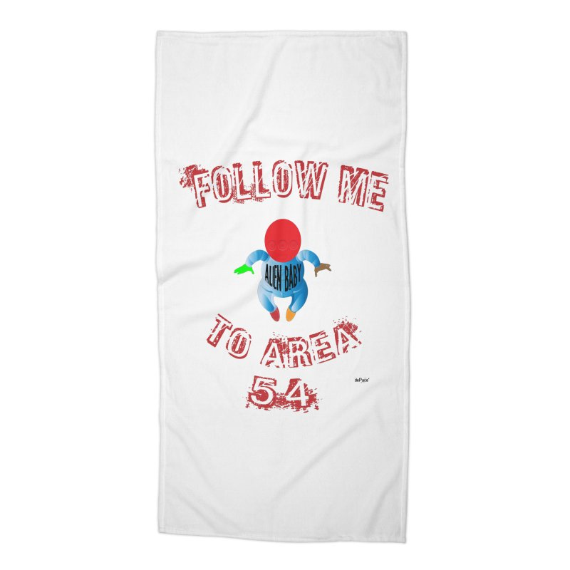 FOLLOW ME TO AREA 54 Accessories Beach Towel by artworkdealers Artist Shop