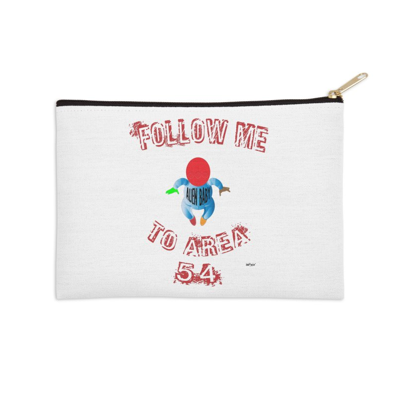 FOLLOW ME TO AREA 54 Accessories Zip Pouch by artworkdealers Artist Shop