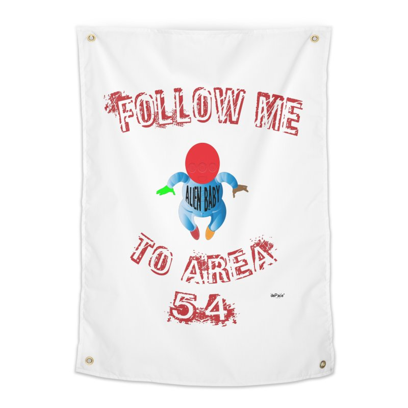 FOLLOW ME TO AREA 54 Home Tapestry by artworkdealers Artist Shop