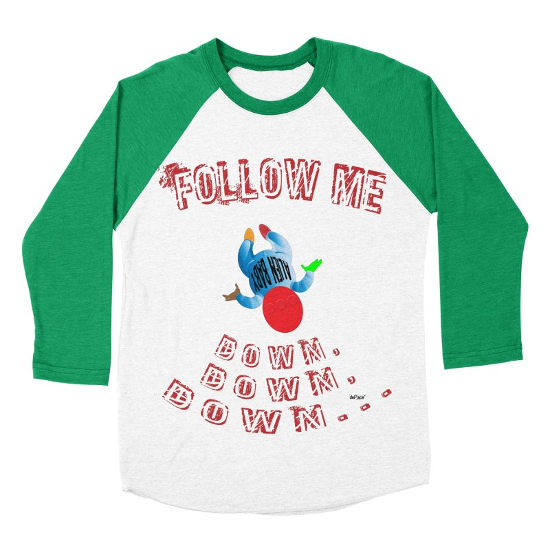 FOLLOW ME DOWN, DOWN, DOWN... Men's Baseball Triblend Longsleeve T-Shirt by artworkdealers Artist Shop