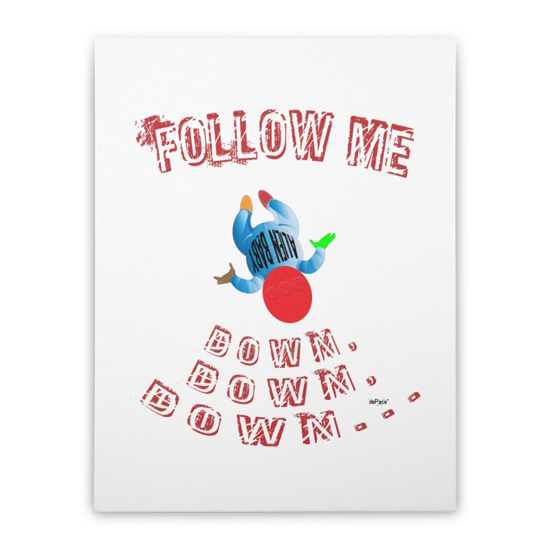 FOLLOW ME DOWN, DOWN, DOWN... Home Stretched Canvas by artworkdealers Artist Shop
