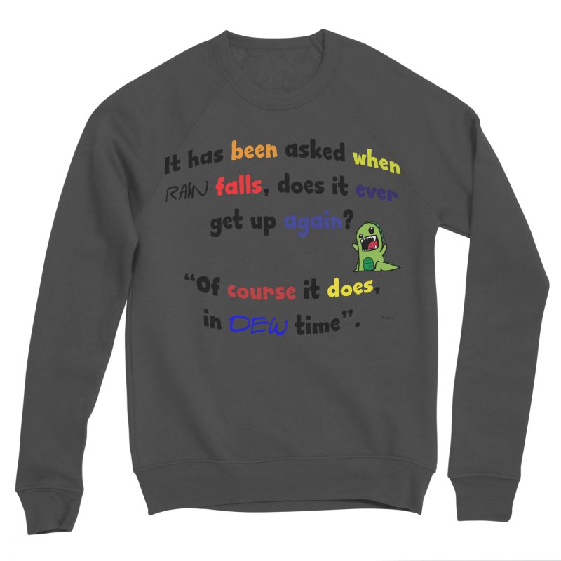 WHEN RAIN FALLS Men's Sponge Fleece Sweatshirt by artworkdealers Artist Shop