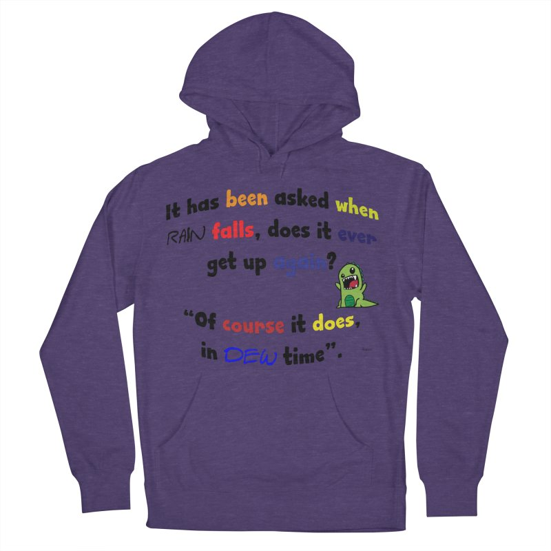 WHEN RAIN FALLS Women's French Terry Pullover Hoody by artworkdealers Artist Shop