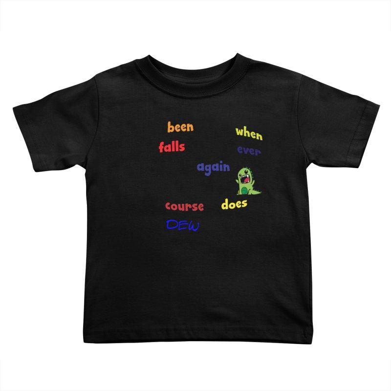 WHEN RAIN FALLS Kids Toddler T-Shirt by artworkdealers Artist Shop