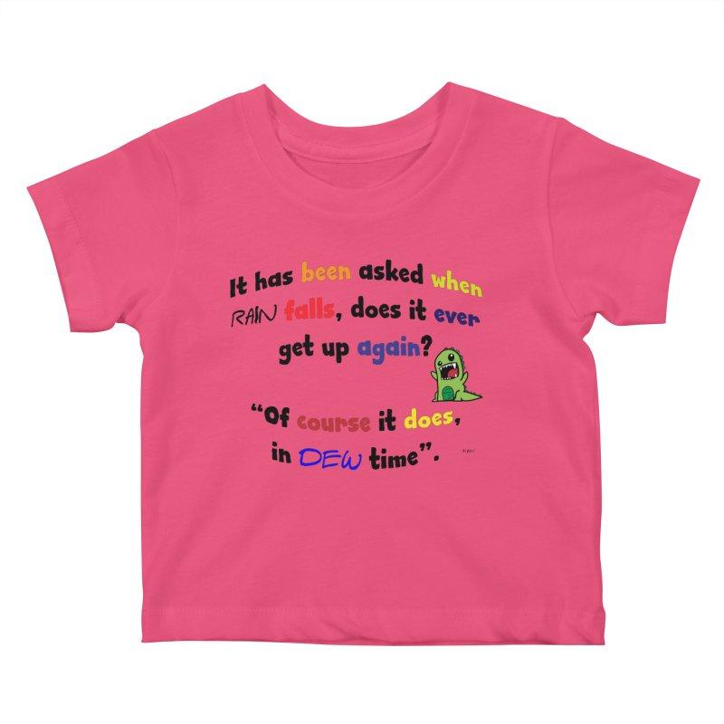 WHEN RAIN FALLS Kids Baby T-Shirt by artworkdealers Artist Shop