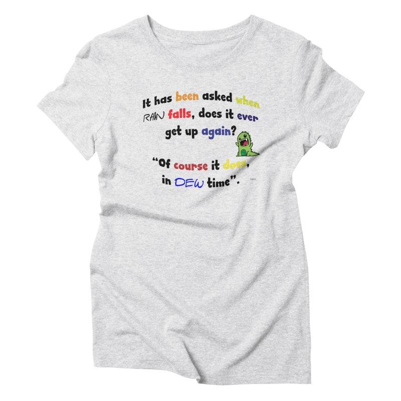 WHEN RAIN FALLS Women's Triblend T-Shirt by artworkdealers Artist Shop