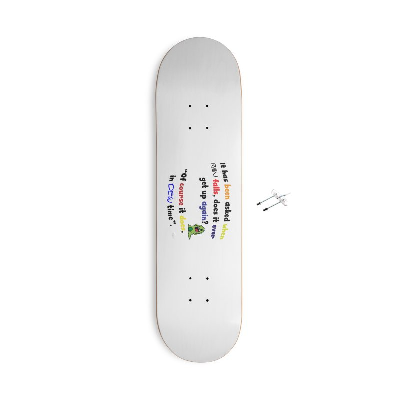 WHEN RAIN FALLS Accessories With Hanging Hardware Skateboard by artworkdealers Artist Shop