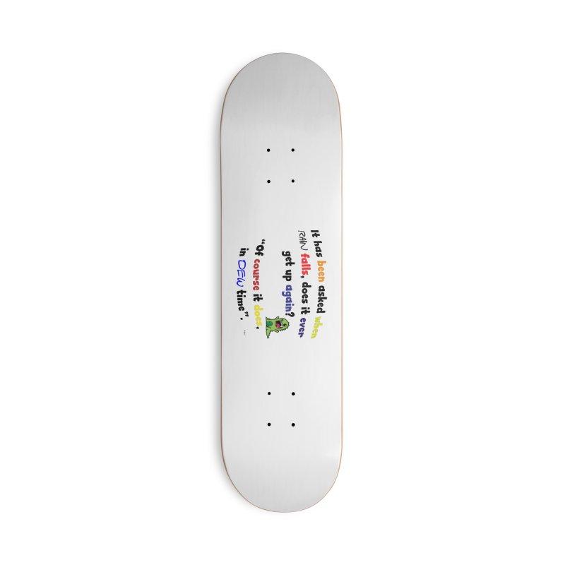 WHEN RAIN FALLS Accessories Deck Only Skateboard by artworkdealers Artist Shop