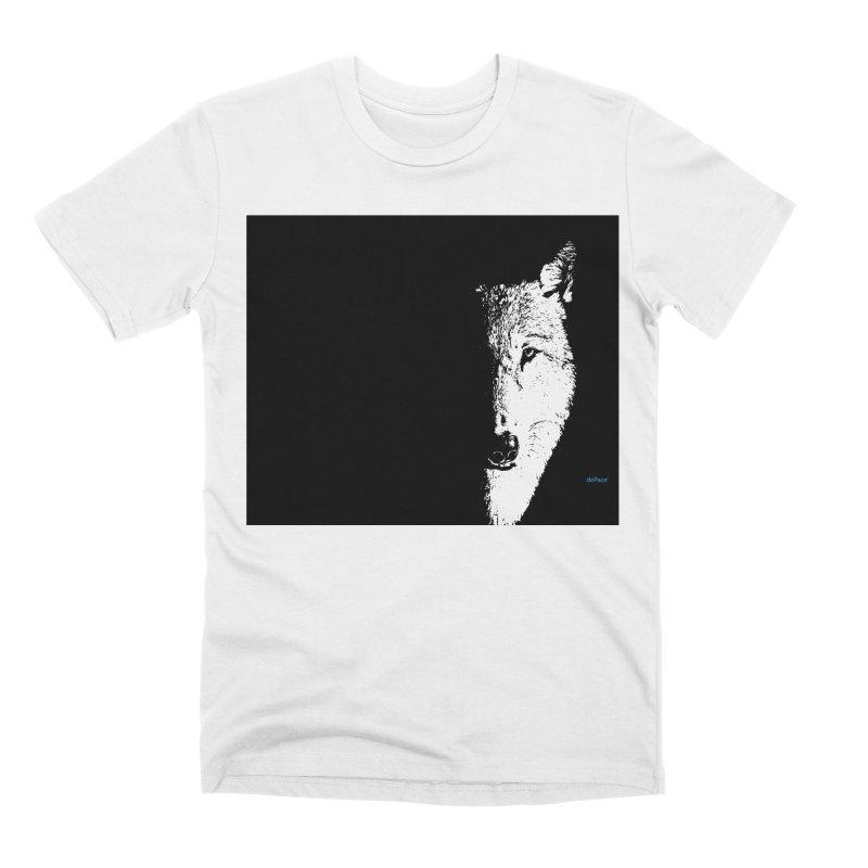 Lone Wolf Men's Premium T-Shirt by artworkdealers Artist Shop