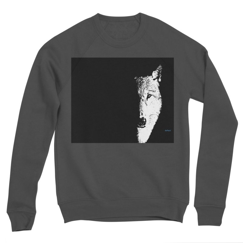 Lone Wolf Men's Sponge Fleece Sweatshirt by artworkdealers Artist Shop