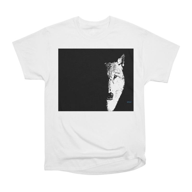 Lone Wolf Men's Heavyweight T-Shirt by artworkdealers Artist Shop