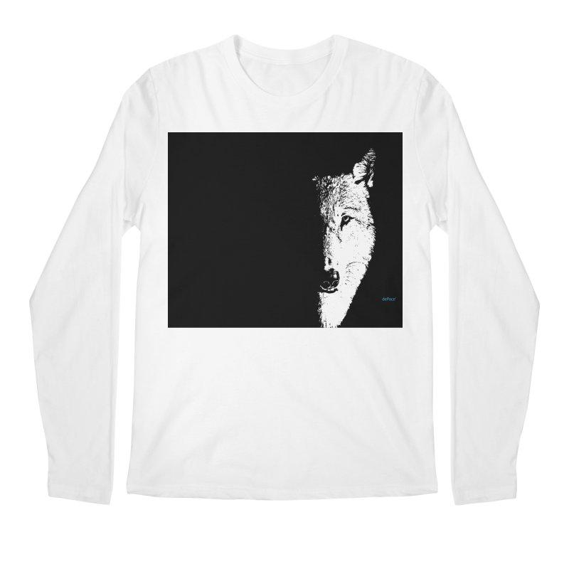 Lone Wolf Men's Regular Longsleeve T-Shirt by artworkdealers Artist Shop