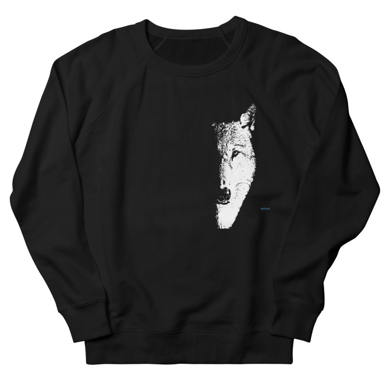 Lone Wolf Men's French Terry Sweatshirt by artworkdealers Artist Shop