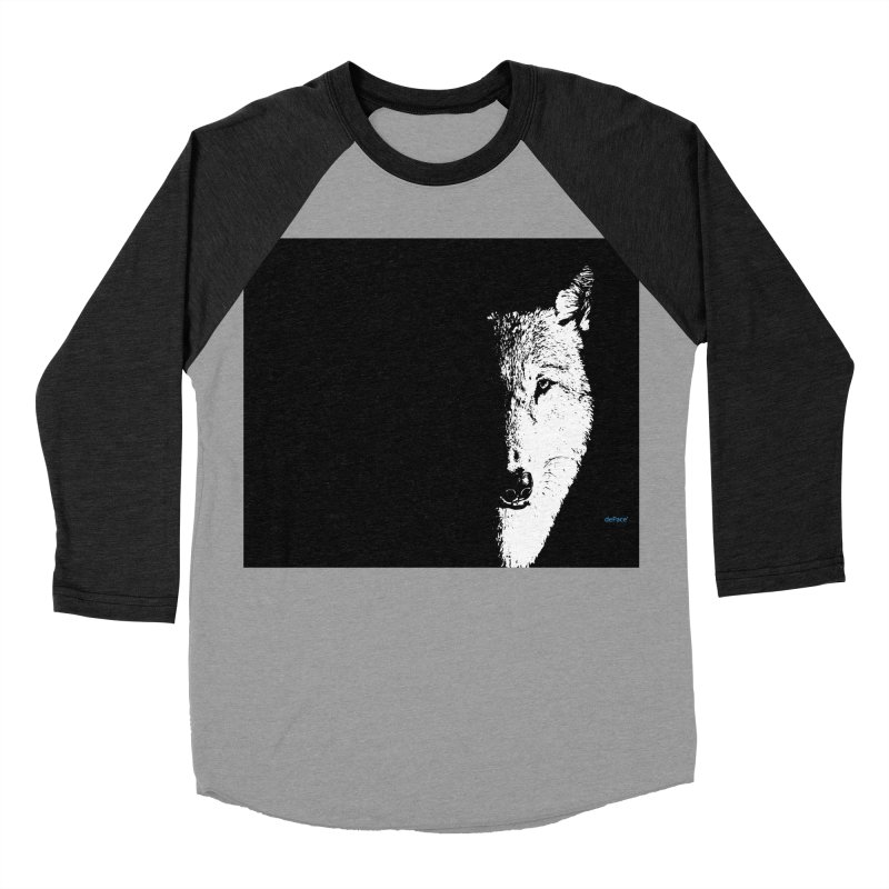 Lone Wolf Men's Baseball Triblend Longsleeve T-Shirt by artworkdealers Artist Shop