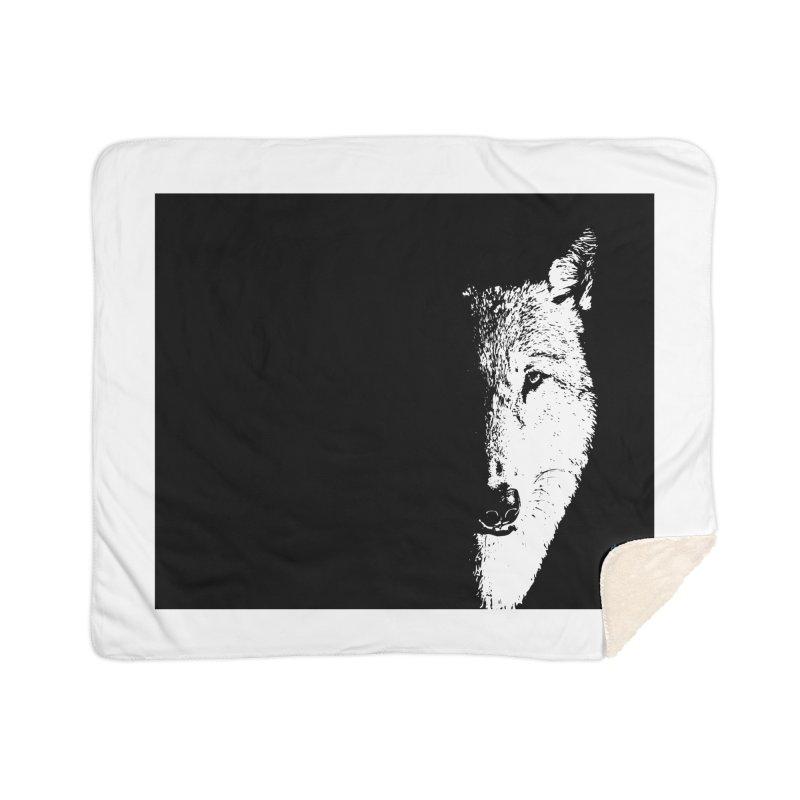 Lone Wolf Home Sherpa Blanket Blanket by artworkdealers Artist Shop