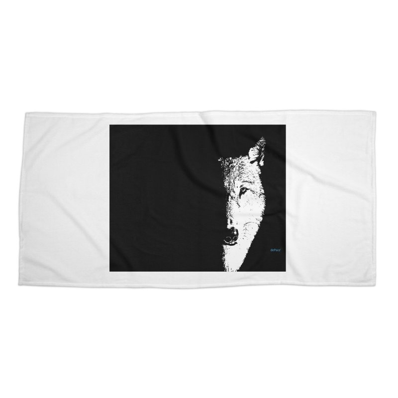 Lone Wolf Accessories Beach Towel by artworkdealers Artist Shop