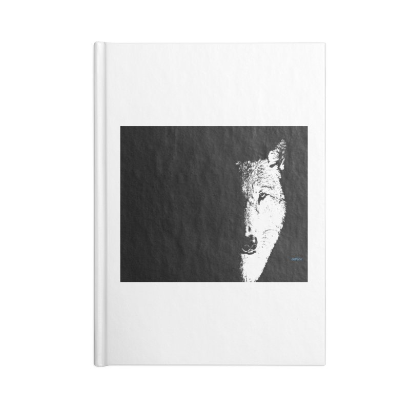 Lone Wolf Accessories Blank Journal Notebook by artworkdealers Artist Shop