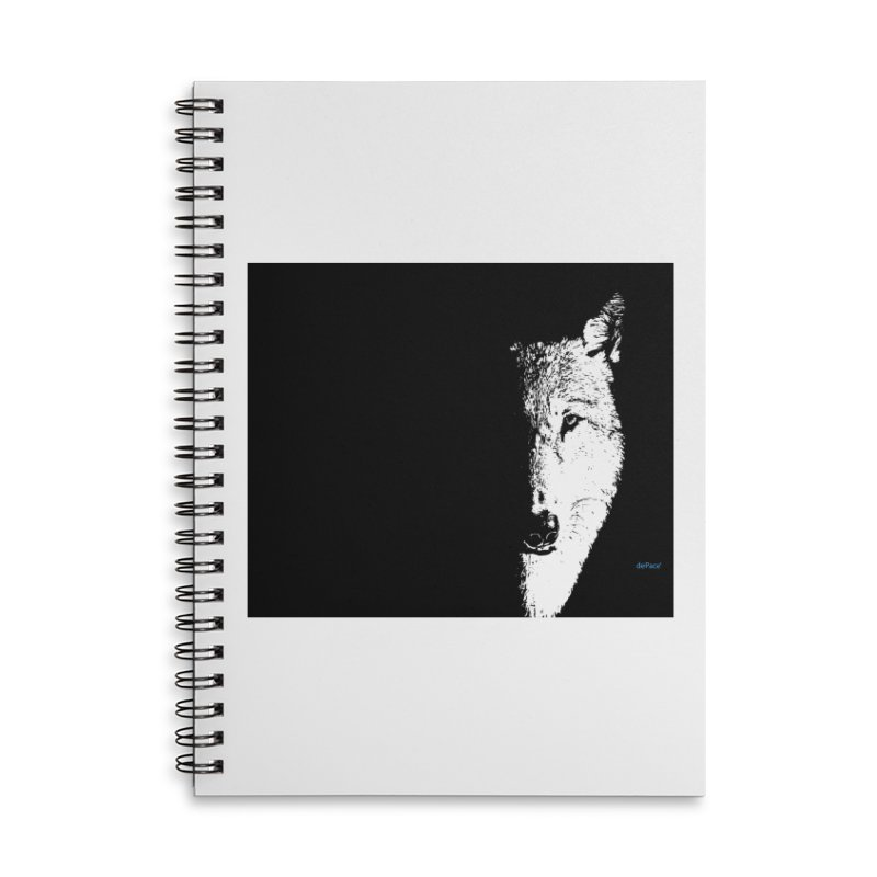 Lone Wolf Accessories Lined Spiral Notebook by artworkdealers Artist Shop