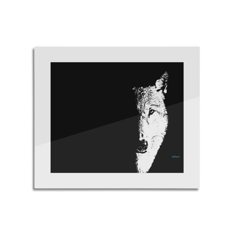 Lone Wolf Home Mounted Acrylic Print by artworkdealers Artist Shop