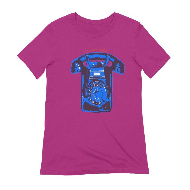Call Me Women's Extra Soft T-Shirt by artworkdealers Artist Shop
