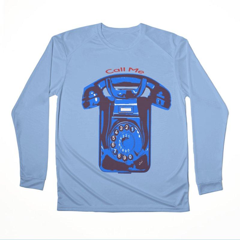 Call Me Men's Performance Longsleeve T-Shirt by artworkdealers Artist Shop