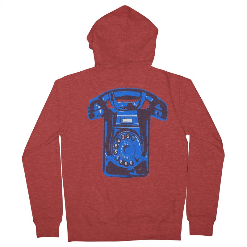 Call Me Men's French Terry Zip-Up Hoody by artworkdealers Artist Shop