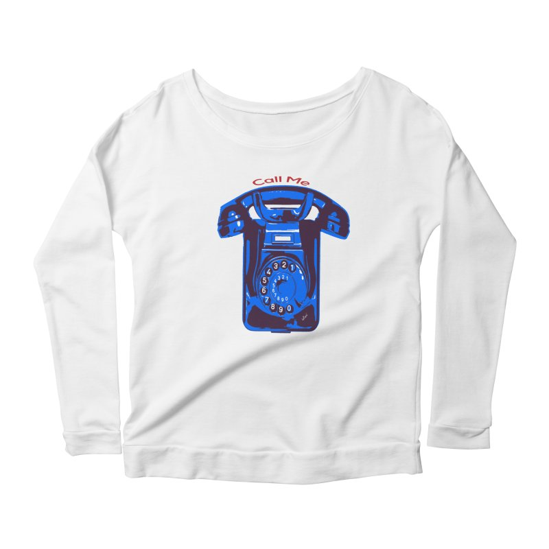 Call Me Women's Scoop Neck Longsleeve T-Shirt by artworkdealers Artist Shop
