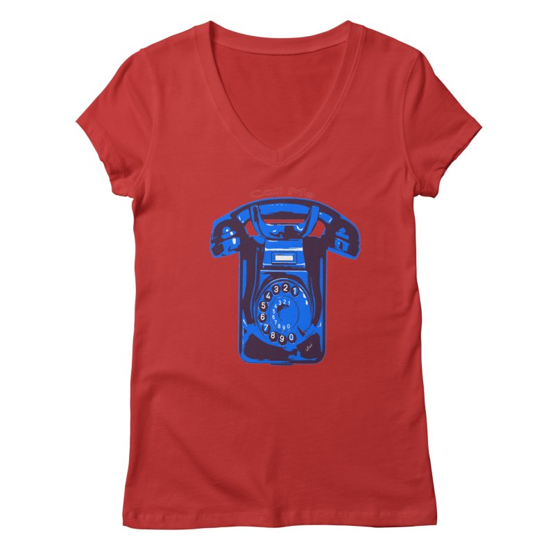 Call Me Women's Regular V-Neck by artworkdealers Artist Shop