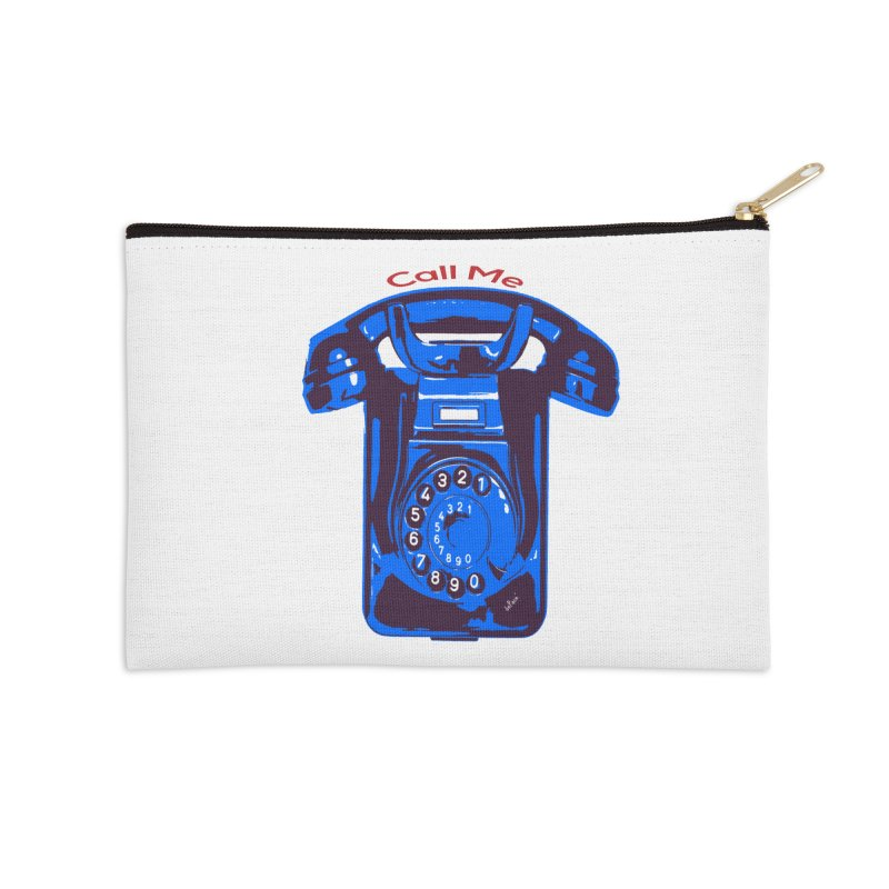 Call Me Accessories Zip Pouch by artworkdealers Artist Shop