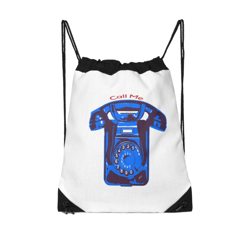 Call Me Accessories Drawstring Bag Bag by artworkdealers Artist Shop