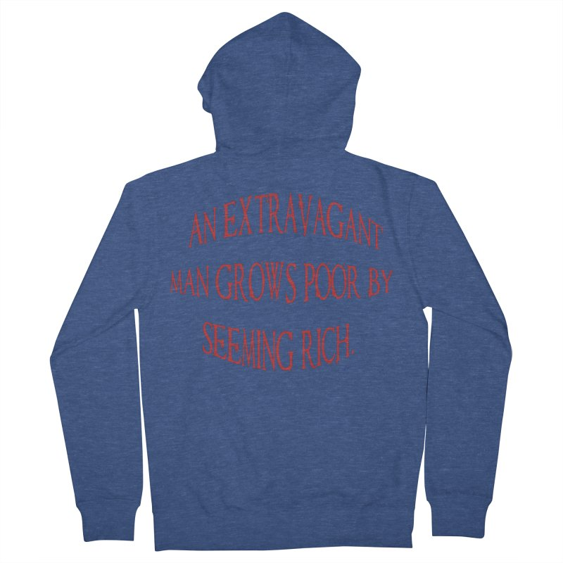 Extravagant Man Men's French Terry Zip-Up Hoody by artworkdealers Artist Shop