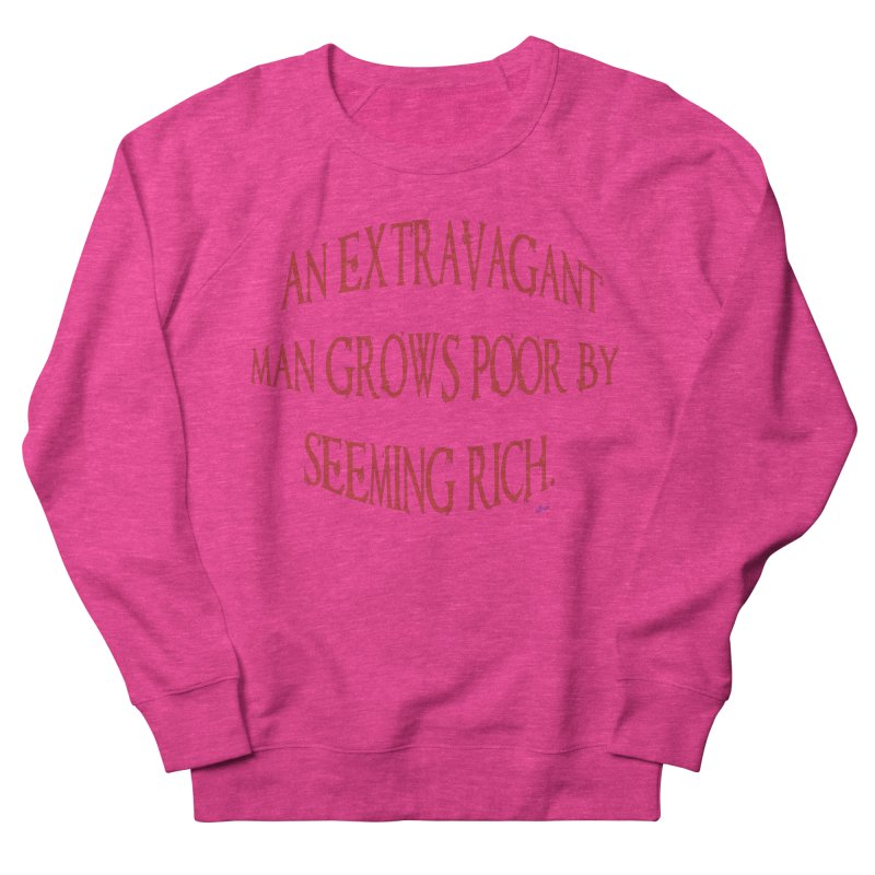 Extravagant Man Women's French Terry Sweatshirt by artworkdealers Artist Shop