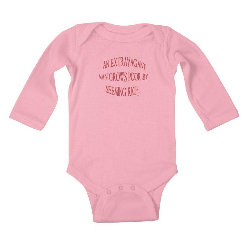 Extravagant Man Kids Baby Longsleeve Bodysuit by artworkdealers Artist Shop