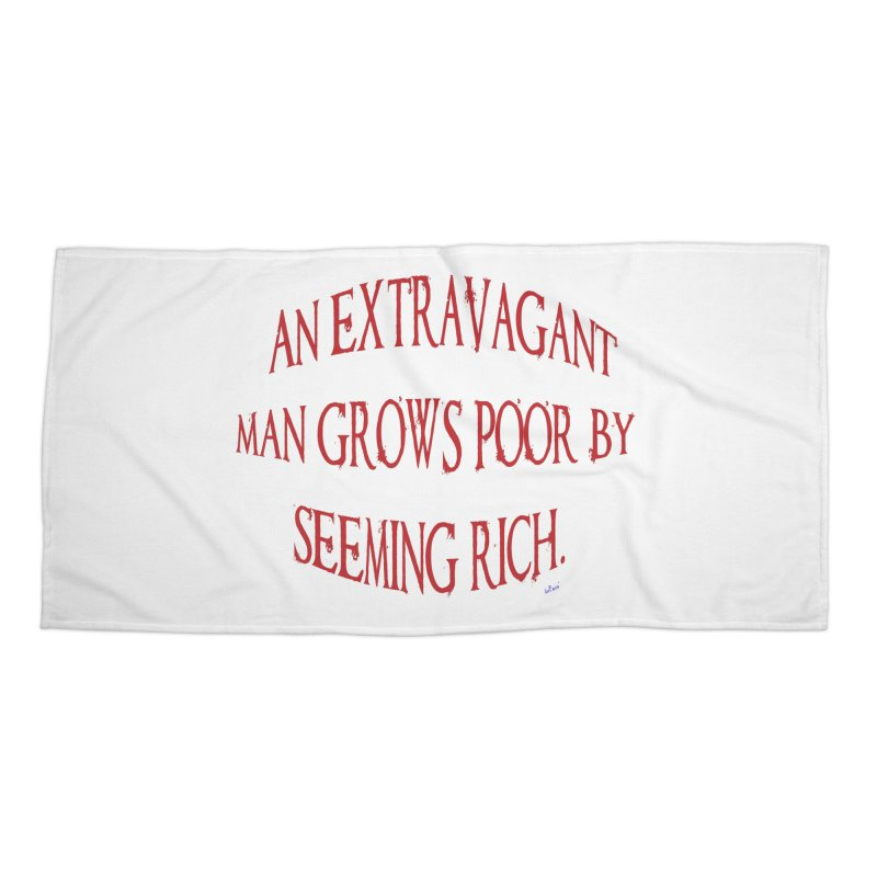 Extravagant Man Accessories Beach Towel by artworkdealers Artist Shop