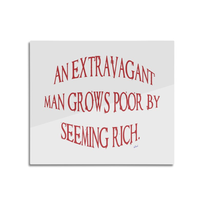 Extravagant Man Home Mounted Aluminum Print by artworkdealers Artist Shop