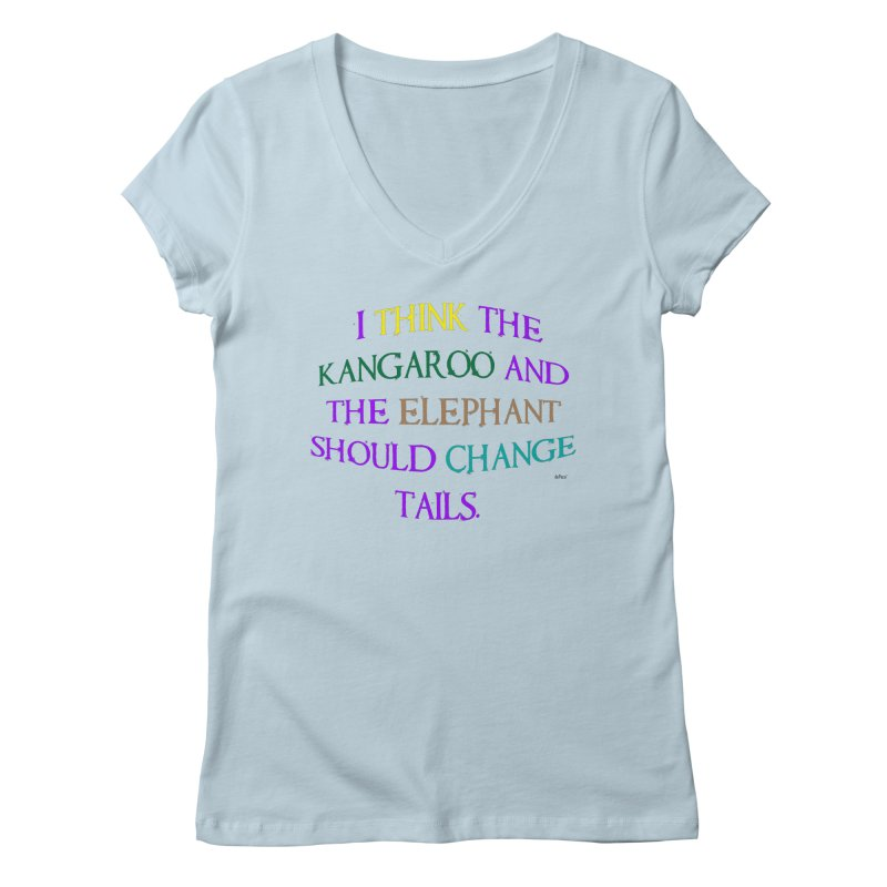 Change Tails Women's Regular V-Neck by artworkdealers Artist Shop