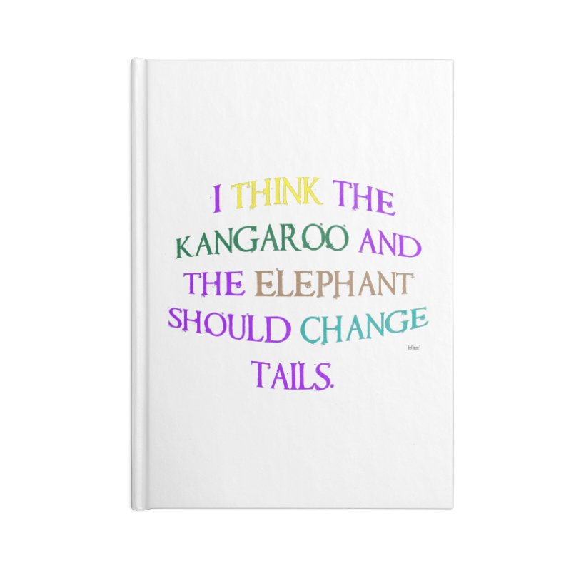 Change Tails Accessories Blank Journal Notebook by artworkdealers Artist Shop